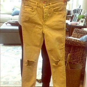 Free People Khaki Jeans